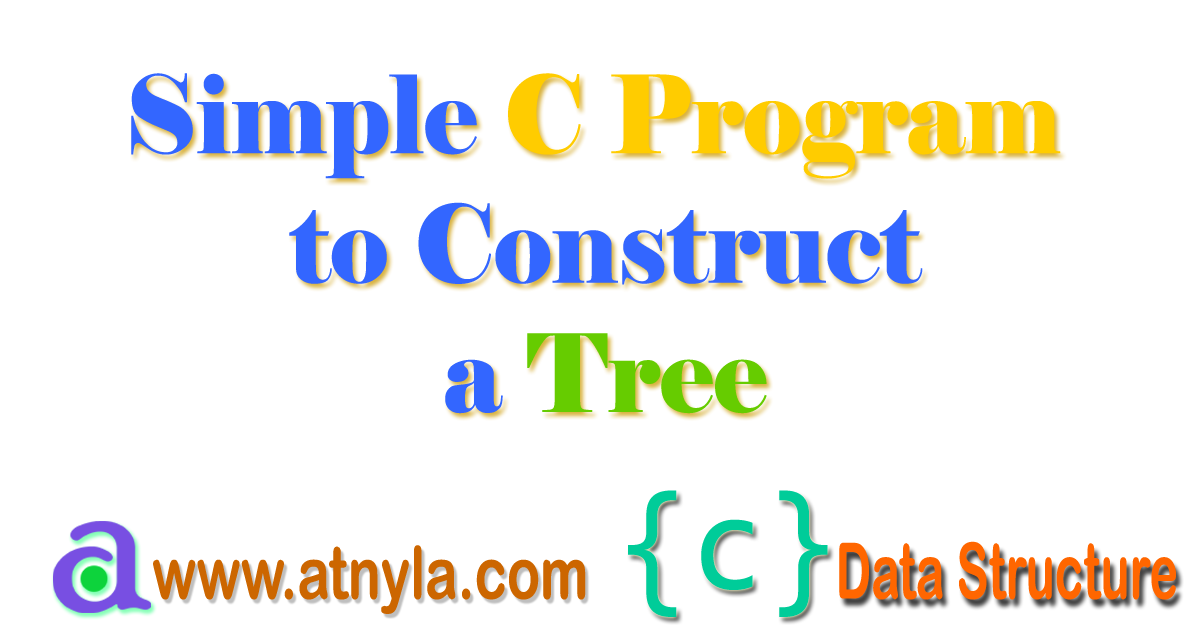 C Program to Construct a Tree with insertion operation and display the output