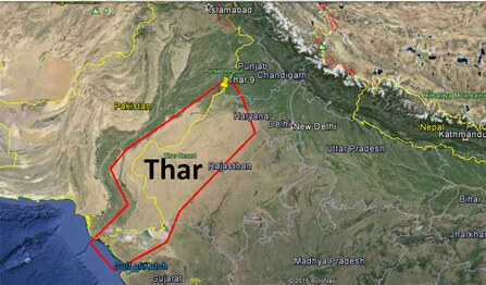 Great indian desert location